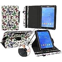 Emartbuy Mediacom SmartPad MX 10 HD Lite Tablet PC 10.1 Pollice Universale ( 9 - 10 Pollice ) Multicolore Farfalle 360° Rotante Folio Wallet Custodia Case Cover + Nero