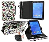 Emartbuy® iBowin P940 9 Inch Tablet PC Universal ( 9 - 10 Inch ) Multi Coloured Butterflies 360 Degree Rotating Stand Folio Wallet Case Cover + Black Stylus