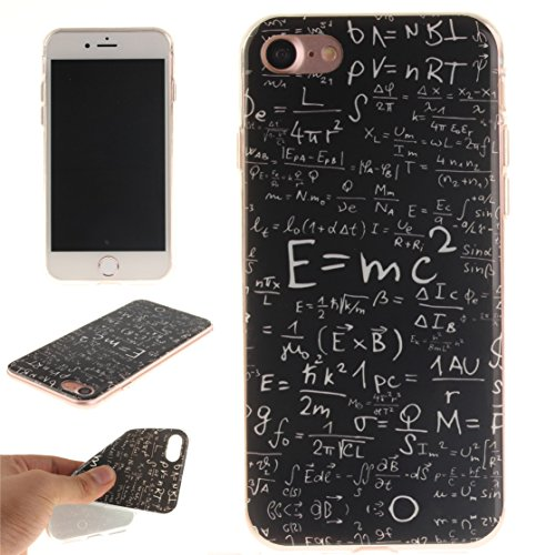 AIXIN Coque iPhone 7, Ubegood iPhone 7 bumper Case [Absorption de Choc] Coque arriere transparente Bumper en TPU Coque pour iPhone 7 Design 07