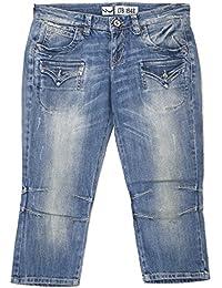 LTB, Damen Kurze Jeans Shorts Bermudas, Web Capri,Stretchdenim,Ocean Blue   d28abbdf76
