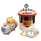 bacoeng 4.5CFM zweis etapas Bomba de vacío bajo Impresión Bomba con manómetro HVAC