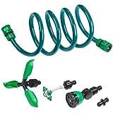Royal Gardineer Dusche: 3in1-Gartendusche, Rasensprinkler & Wassernebler, fixierbarer Schlauch (Wasser-Nebler)