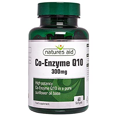 Natures Aid Co-Enzyme Q10 300 mg 60 Softgel Capsules (Mega Potency CO-Q-10, as Ubiquinone, Sunflower Oil Base, Made in the UK) by NAVX2