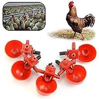 Jiamins 5Pack Bebedero para pájaros comedero para pájaros Bebedero Pollo–Adapter el Tubo de diámetro 9,5mm