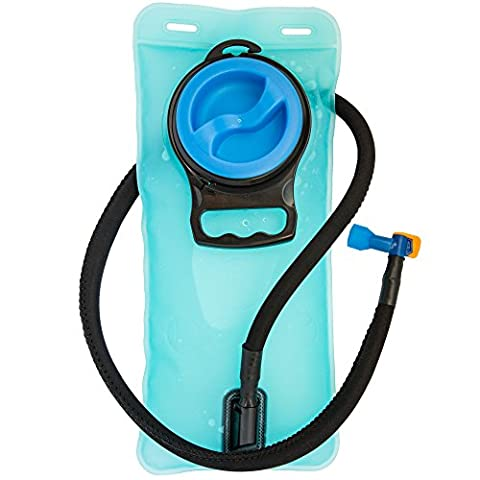 SUMMER OFFER HYDRATION BLADDER - Antibacterial and BPA Free For Great Tasting Water - Leak Proof 2L Replacement Water Reservoir Designed For Outdoor Sports So You Can Stay Hydrated and Perform