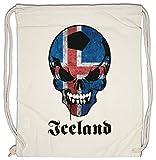 Urban Backwoods Classic Iceland Football Skull Flag Borsa da Palestra Sportiva Fußball Fan HooliganTotenkopf Schädel Banner Fahne Island Borsa da Palestra Sportiva
