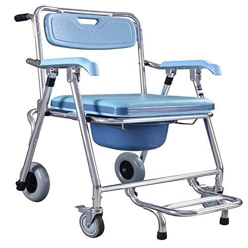 shengshiyujia Nachttisch-Kommodenstuhl mit tragbarer 4-Rad-Mobilitätshilfe Mobilität Multifunktions-ältere behinderte Menschen Schwangere Frauen-Krankenhaus-medizinischer Stuhl