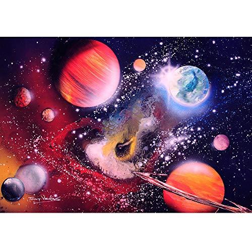 24 x 34 cm 5D Diamant-Stickerei DIY Diamant Gemälde Weltraum Stern Jesus schützt die Erde christlicher Gott Diamanten Mosaik-Stich Kreuzstich Stickerei Volleckige Bohrmaschine Heimdekoration B -