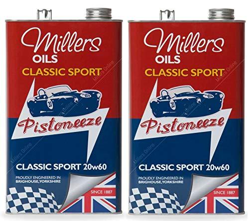 Millers Classic Sport 20W60 Olio Motore Semi Sintetico, 10 Lit
