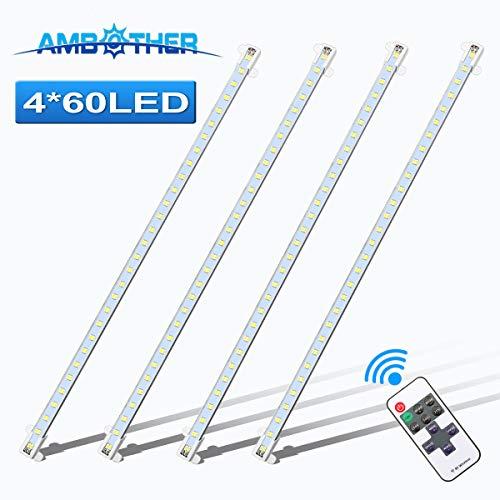 AMBOTHER Starre LED Streifen, Aluminium LED Stab Licht Lichtleiste Innenraumbeleuchtung DC 12V Universal für Wohnwagen Anhänger Camping Boot Auto LKW 50CM Weiß 2 Stück