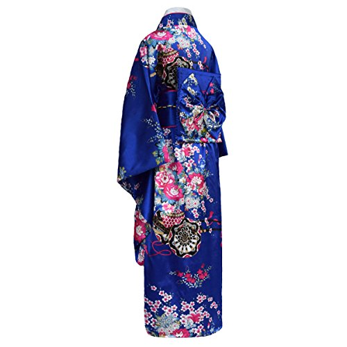 Japanischer geisha Kimono mit Obi-Gürtel Blau