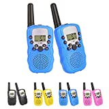 Kids Walkie Talkies Radio 3KM Range 8 Channels Battery Operated Handset with Indicator and Belt Clip for Children Outdoor Camping Hiking 2 PCS (Batteries Not Included)