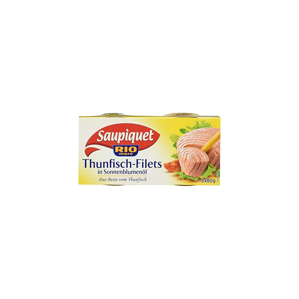 Rio Mare Saupiquet Thunfisch Filets In Sonnenblumenl 2 Dosen 160 G