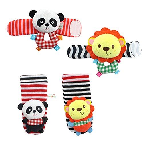 YeahiBaby El juguete animal de las muñecas de la felpa suave 4PCS y l