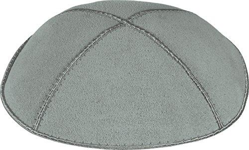 Echtem Velourleder mit 4 Abschnitten, Mittleres Grau, Mittlere (Jüdische Hüte Für Männer)