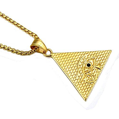 jajafook 18K vergoldet Triangle Ägyptische Auge des Horus RA Anhänger, Religion Alten Ägypten Jewelry (Alte Parfüm Ägyptische)