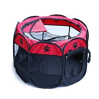 Easylifer Portable Folding Fabric Pet Play Pen Puppy Dog Cat Rabbit Guinea Pig Playpen Run Playpen Crate Cage Kennel Play Ten 51id3pGmEGL