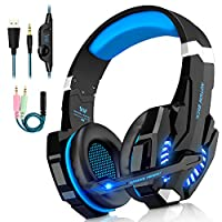 Gaming Headsets PS4, 3.5mm Stereo Wired Over-Head Gaming Headphone with Noise Canceling Mic & Volume Control, Over Ear Gaming Headphone for PC/MAC/PS4/Xbox One/Nintendo Switch/Mobile