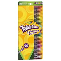 CRAYOLA TWISTABLES COLOURED PENCILS - 40 PACK