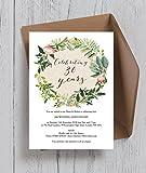 personalisierbar Blumenkranz Hochzeitstag Einladungen mit Umschlägen (10Stück)