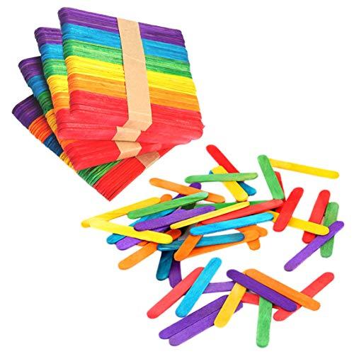LVHERO Holzspatel Bunt, 200 Stück Mehrfarbig Eisstiele Aus Holz Zum Basteln ideal für EIS am Stiel, Waxing und Basteln