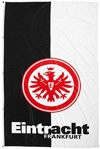 Flaggenfritze/® gratis Aufkleber Flagge Eintracht Frankfurt Classic 100 x 135 cm