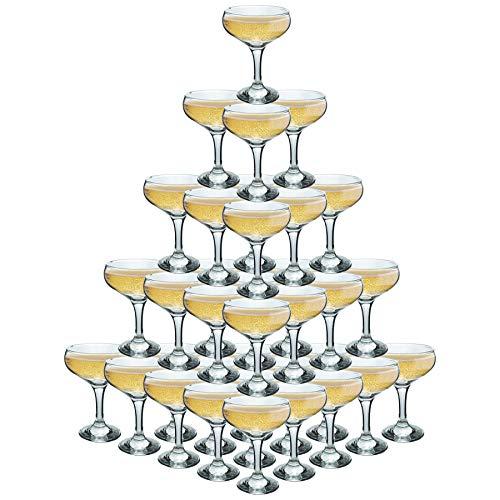 Rink Getränk 5 Tier Champagne Turm Set - 35 Gläser - 200 ml Weinlese-Champagne Coupe Saucers