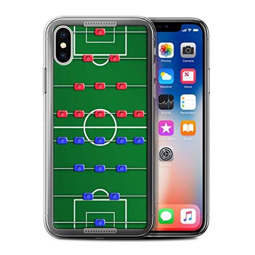 Stuff4 Gel TPU Hülle / Case für Apple iPhone X/10 / Pack 6pcs / Spiele Kollektion Tischfußball
