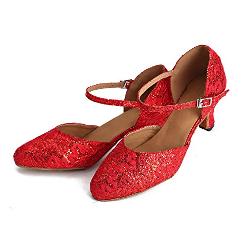 Minitoo ,  Damen Tanzschuhe Red-6cm Heel