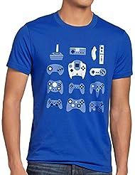 style3 Manette de jeu T-Shirt Homme game pad contrôleur vidéo console jeux