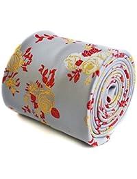 Frederick Thomas Mens Premium Design Tie Handmade Floral Pattern Wedding Style
