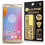 DMG Lenovo K6 Note Tempered, Ikare Impossible Fiber Tempered Screen Protector (Reusable, Ultra Clear, Real Shock Proof, Unbreakable)