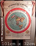 FLAT EARTH MAPS & POSTER PRINTS UK: DIGITAL REPRODUCTION OF GLEASONS NEW STANDARD MAP OF THE WORLD 1892 - (40x28 inch) (101cmx72cm) MEDIUM or EXTRA THICK PVC OUTDOOR WEATHERPROOF TARPAULIN