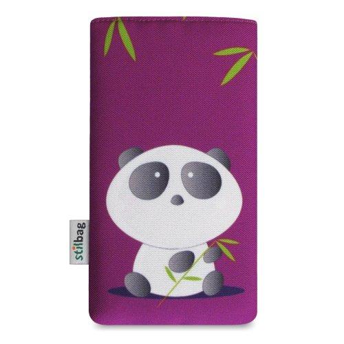 Stilbag Tasche 'MIKA' für Apple iPhone 5 - Design: Abstract Green Bamboo Panda