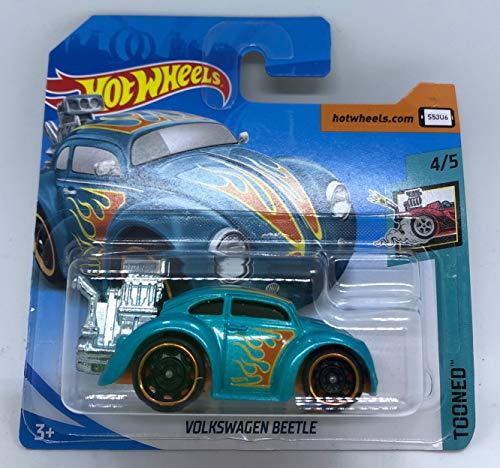 Hot Wheels 2018 Volkswagen Beetle Turquoise 4/5 Tooned 347/365 (Short Card)