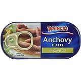 Princes Filets d'Anchois dans de l'Huile d'Olive 49 g - Lot de 6