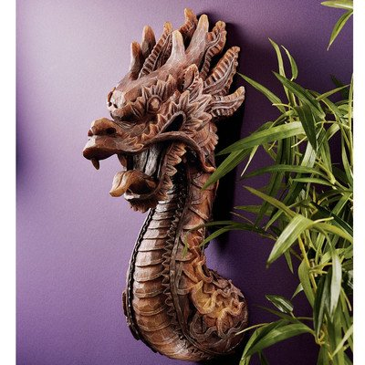 Design Toscano the Fire Dragon Wall Sculpture - Set of 2