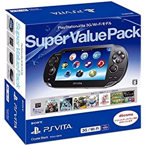 PlayStation Vita Super Value Pack 3G/Wi-Fiモデル クリスタル・ブラック【メーカー生産終了】