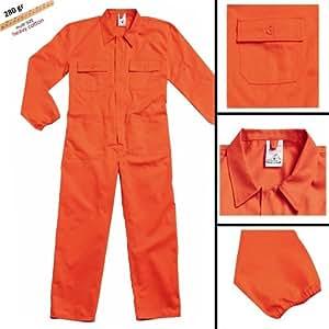 qualitex overall orange 100 baumwolle arbeitskleidung storepoint tg l baumarkt. Black Bedroom Furniture Sets. Home Design Ideas