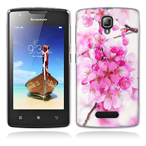 Lenovo A1000 Hülle, Lenovo A1000 Silicone Hülle, Gift_Source [ Rhododendron ] Hülle Case Transparent Weiche Silikon Schutzhülle Handyhülle Schutzhülle Durchsichtig TPU Crystal Clear Case Backcover Bumper Case für Lenovo A1000 (for phone not for tablet)