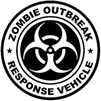 ZOMBIE OUTBREAK RESPONSE VEHICLE CAR BUMPER STICKER VAN JDM DECAL DRIFT GRAPHIC