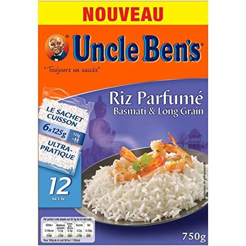 Uncle Ben'S - Fragrant Basmati-Reis und Langkorn-Beutel Kochen 750G - Lot De 3 - Preis pro Los - Schnelle Lieferung