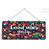 Dime Store MDF Wall Decor & Door Hanging for Home Decor Item (Good Vibes)