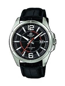 Reloj Casio EFR-101L-1AVUEF de cuarzo para hombre con correa de piel, color negro de Casio