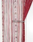 CUH Dew Drop Perlen Kette String Vorhang Panel String Tür Vorhang Insektenschutz Saite für Türen Trennwand Oder Fenster Vorhang Panel Burgunderfarben