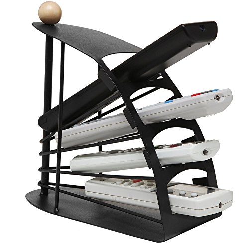House of Gift Black Remote Control Organizer Storage Rack Holder Metal Stand  available at amazon for Rs.659