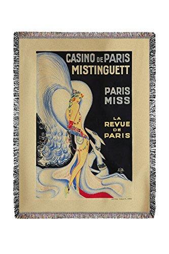 Casino de Paris - Mistinguett - Paris Miss vintage Poster (Artiste : Zig) France C. 1930 (60 x 80 tissé Fil chenille Couverture)