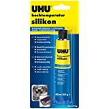 UHU Mastic silicone haute température 80ml, noir, 46735
