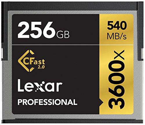 Lexar Professional CompactFlash CFast 2.0 – 256GB Speicherkarte (bis zu 540 MB/s lesen)