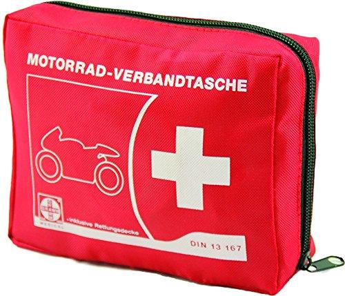 Actiomedic® CAR SAFETY Motorrad-Verbandtasche DIN 13 167:2014 Rot